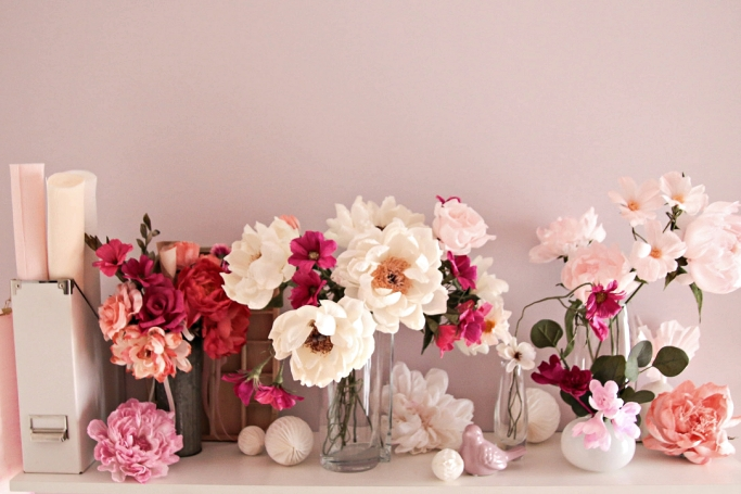 i fiori di carta colorate